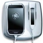 GE- Vscan handheld, pocket-sized ultrasound tool in its docking station