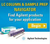 Agilent- LC column navigator banner