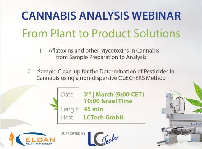 Details of Cannabis Analysis Webinar 3.3.2021
